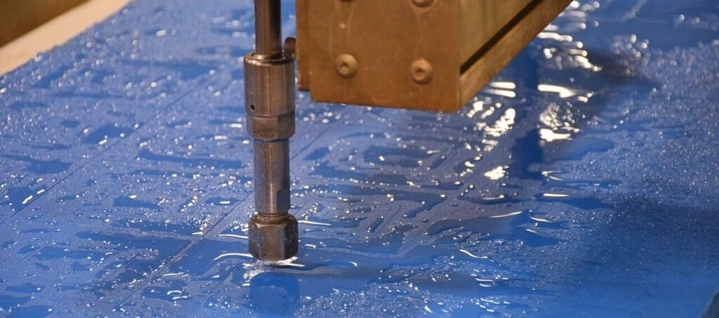 waterjet cutting plastics rubbers