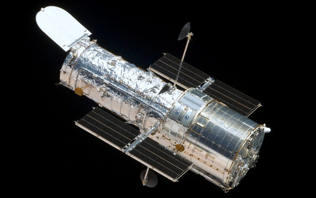hubble space telescope with poron urethane